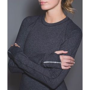 Lulu Runderful Heathered Herringbone Long Sleeve